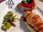 Tapas at Sagardi Euskal Taberna in El Born district of Barcelona - pintxos tapas