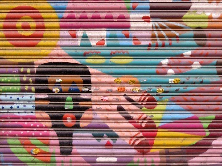 Historic central Barcelona - street art