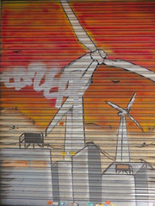 Barcelona street art in central historic La Ribera neighborhood - Barcelona Catalonia Spain