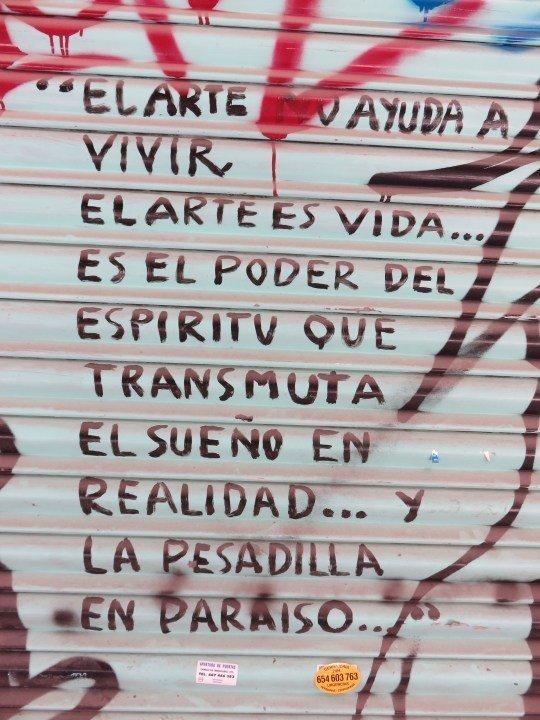 Street art in Barcelona Spain - La Ribera neighborhood
