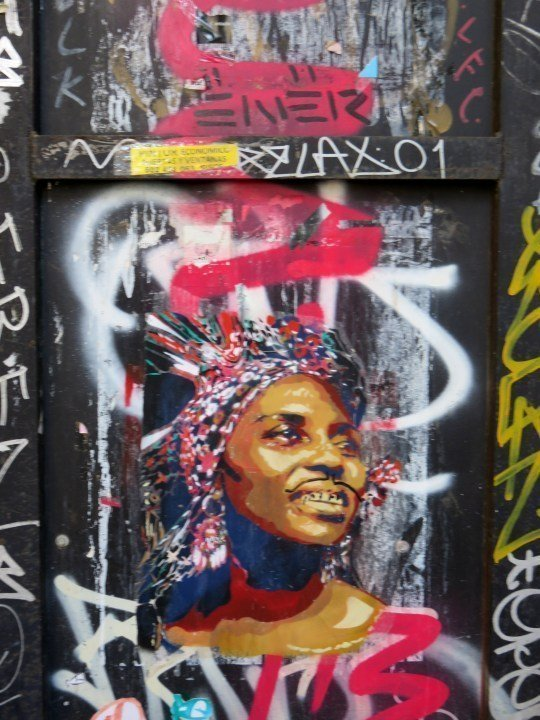 Street art of central Barcelona - outdoor galleries