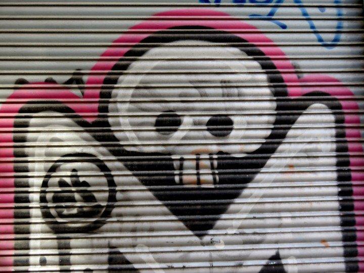 Graffiti in La Ribera neighborhood - central Barcelona