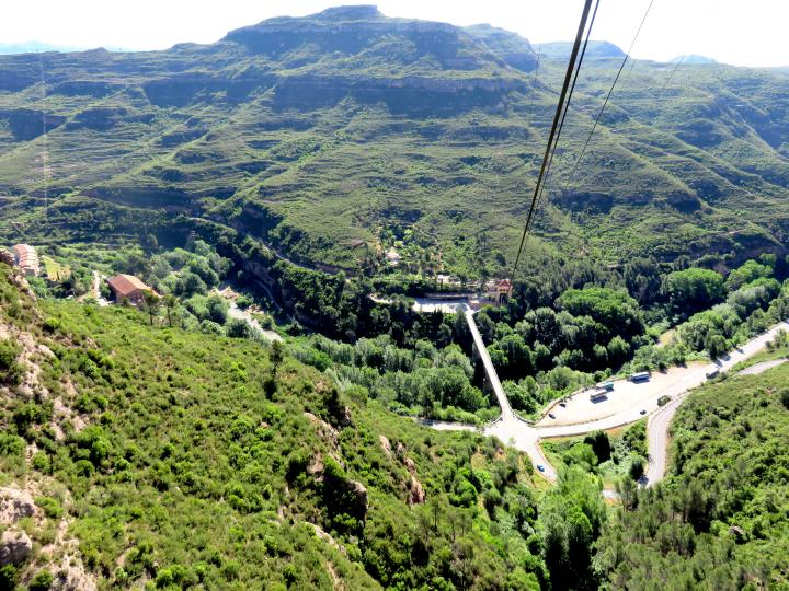 Aeri (cable car) up the mountain Montserrat Barcelona day trip