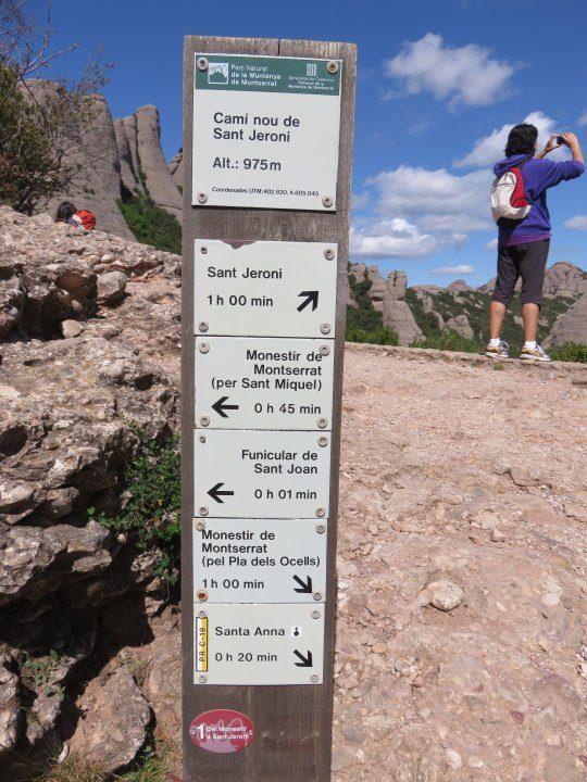 Hiking trail info for Montserrat Spain