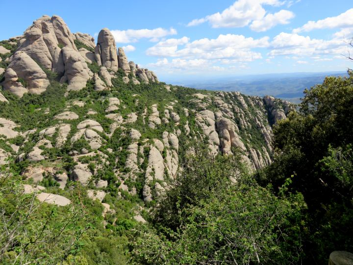 Great views along the Sant Jeroni trail at Montserrat - day trip from Barcelona - 48 kilometers