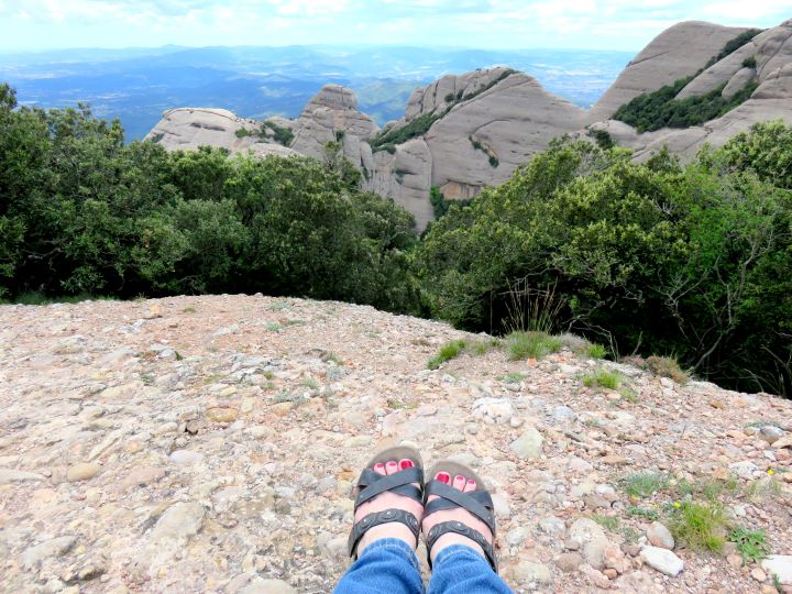 Spectacular views along Sant Jeroni hiking trail at Montserrat - 1 hour train ride from Barcelona to the mountains