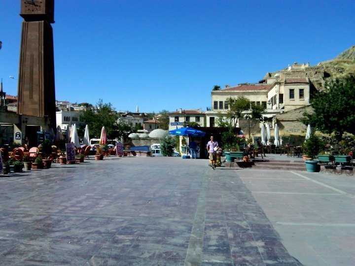 Plaza in Central Urgup - town in Central Anatolia Turkey - tourist center to Cappadocia