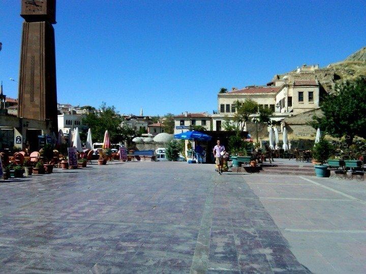 Plaza in Central Urgup - town in Central Anatolia Turkey - tourist center to Cappadocia