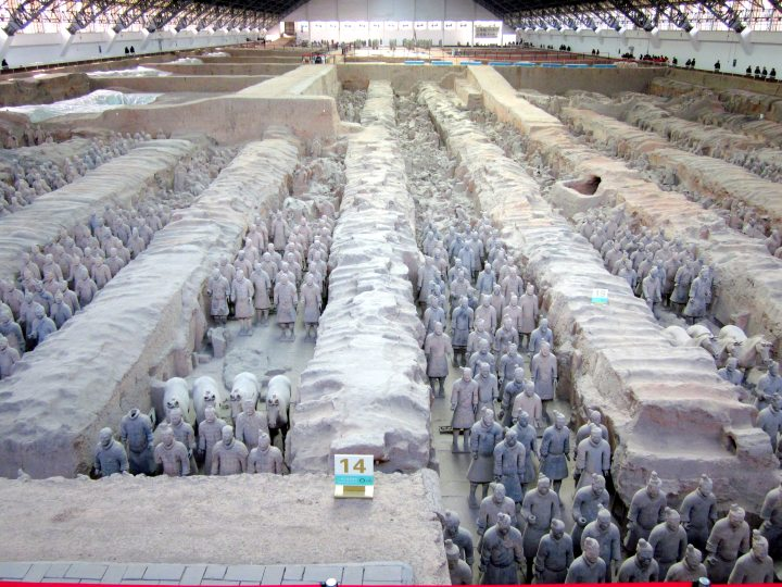 Pit 1 - Terracotta Army - Xi'an Qin Museum of Terracotta Warriors and Horses - Shaanxi province China