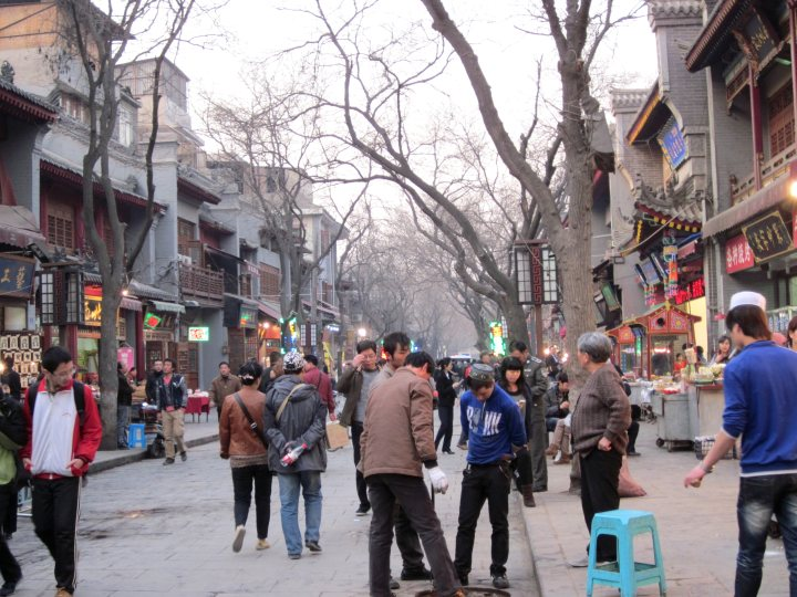 Muslim quarter - The Beiyuan Men Muslim Street near the Drum Tower in Xi'an China