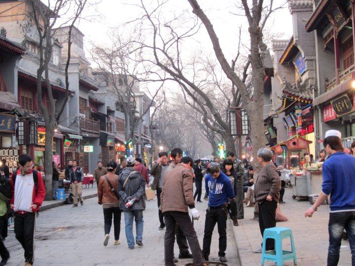 Muslim quarter - The Beiyuan Men Muslim Street near the Drum Tower in Xi'an China