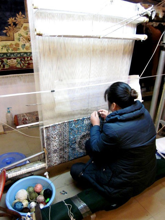 Silk weaving in Xi'an China - classic and modern designs - Shaanxi province