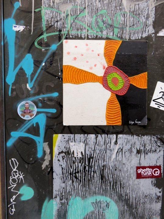 Barcelona street art in the historic gothic neighborhood