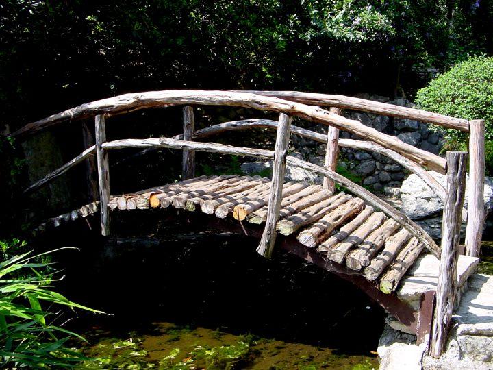 """Togetsu-kyo bridge or """"Bridge to Walk Over the Moon"""" by Isamu Taniguchi - Zilker Botanical Garden in central Austin Texas"""