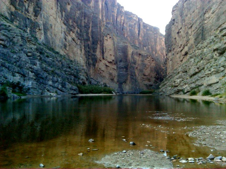 The Bend in Big Bend National Park along the US-Mexico border in Southwestern TX