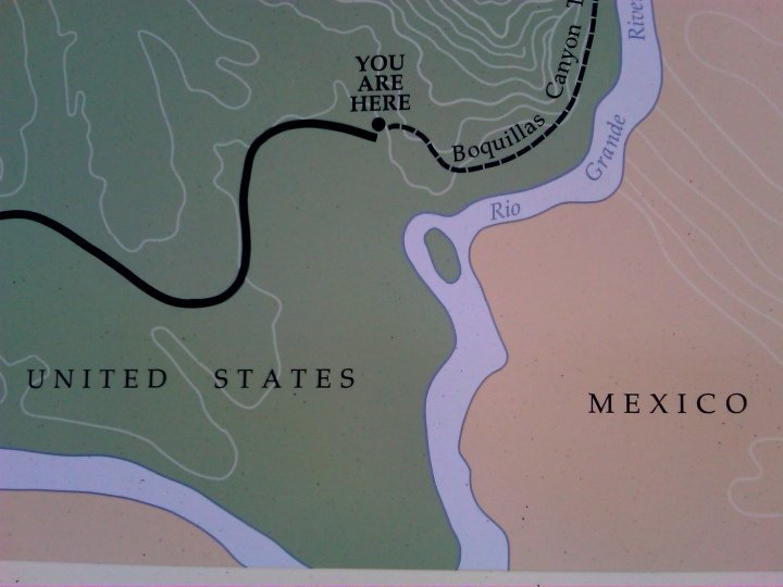Boquillas Canyon - You Are Here - Big Bend National Park - map of area