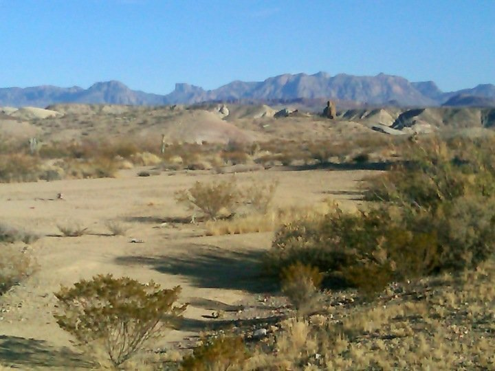 Landscape of Big Bend National Park - mountains and wide open spaces