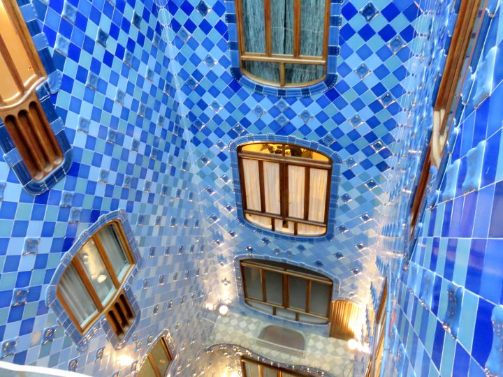 Catalan architect Antoni Gaudi refurbished the house for the Batllo family between 1904 and 1906 - Gracia neighborhood in Barcelona Catalonia Spain