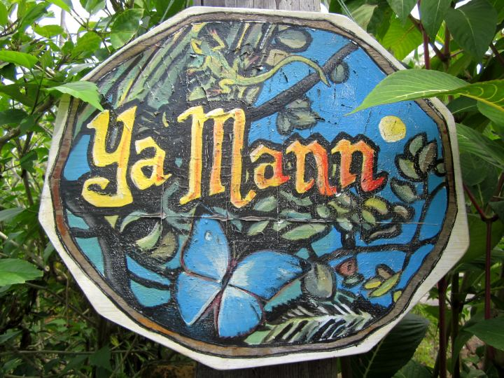 Sign for Cabinas YaMann in Manzanillo Costa Rica