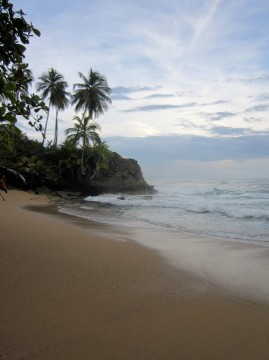 Beautiful beaches along the Caribbean coast of Costa Rica