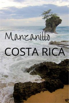 Looking out to the Caribbean Sea from the beach of Manzanillo Costa Rica