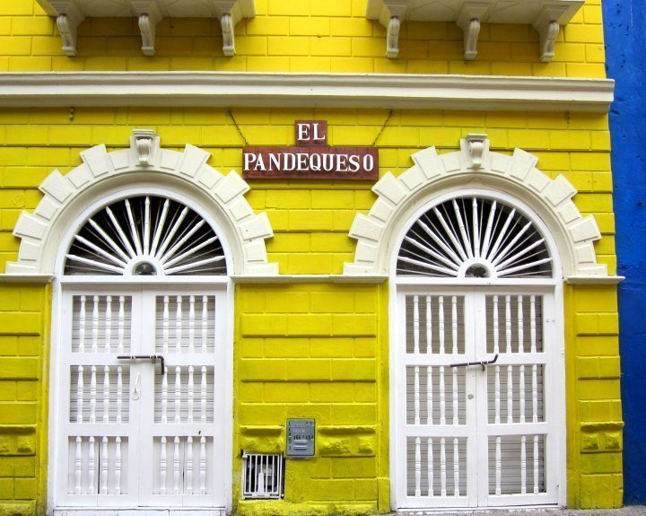Walled city of Cartagena Colombia features colorful architecture and relaxed vibe