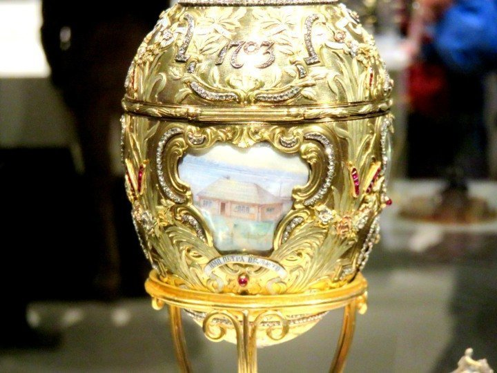 Commemorating the 200th anniversary of the founding of St Petersburg Russia - Peter the Great Easter Egg 1903 by Fabergé