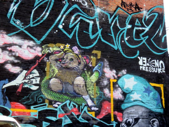 Under Pressure - International Graffiti Convention takes place annually in Montreal Quebec - 1st weekend of the 1st full week in August