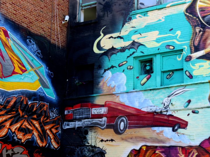 Under Pressure annual graffiti festival takes place in August in Montreal Quebec
