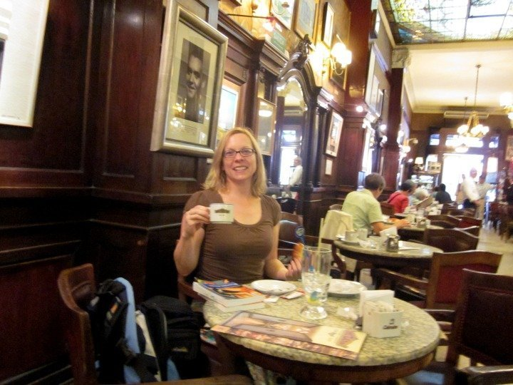 Dread dining alone? Advice for solo travelers - visit a place with great ambiance like Café Tortoni in Buenos Aires Argentina
