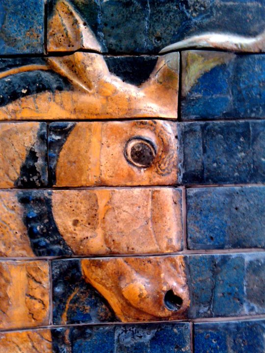 Ishtar Gate - glazed mud tiles depicting an auroch - ancient bull