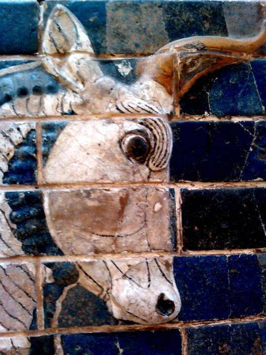 Ishtar Gate features images in tile - auroch - an ancient bull