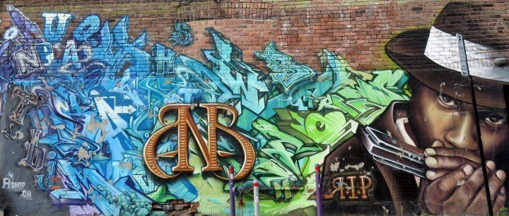 Street art tribute to BNB by A'Shop on Clark - just north of St Catherine - Montreal Quebec