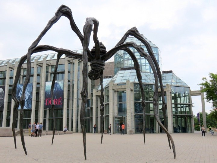 National Gallery of Canada - Maman the gigantic spider sculpture by Louise Bourgeois