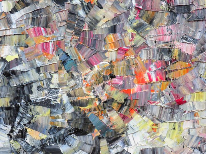Contemporary art in Canada - Detail of Pavane by Jean Paul Riopelle - National Gallery of Canada