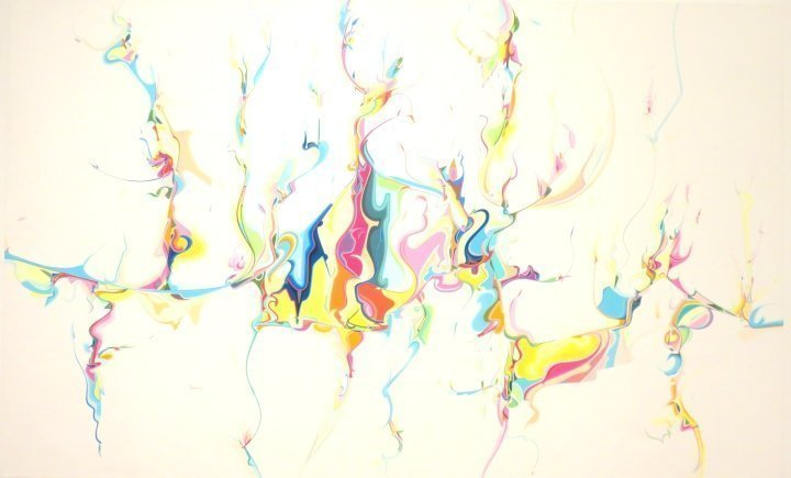 National Gallery of Canada - Contemporary Art in Ottawa - Untitled - acrylic on canvas by Alex Janvier