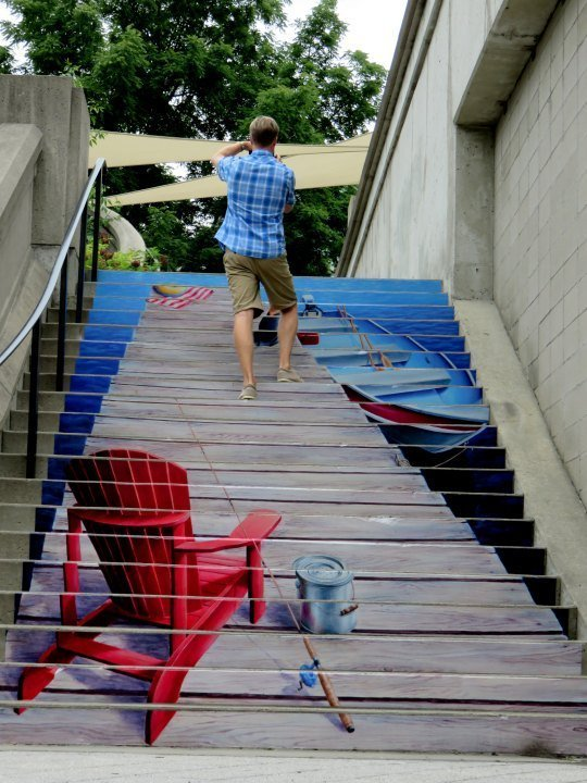 Public Art in Ottawa - Painted stairs in downtown Ottawa near the Rideau Canal
