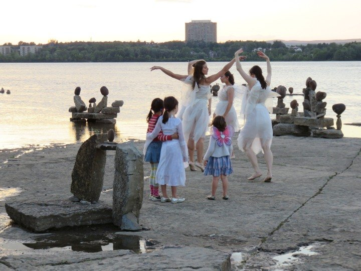 Public Art in Ottawa - Fairy Dance performance by Natasha Royka Movement - Ottawa River