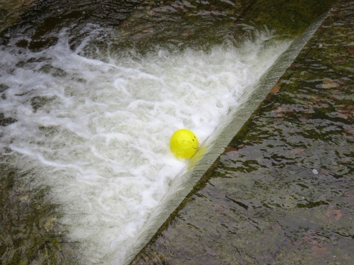 Happy face balloon - Ottawa Locks - Rideau Canal UNESCO World Heritage Site