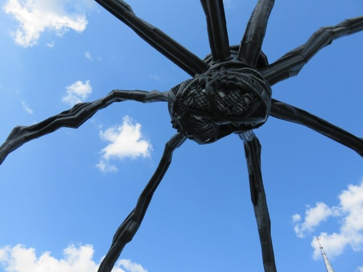 Public Art in Ottawa - Detail of the spider's eggs - Maman sculpture by Louise Bourgeois