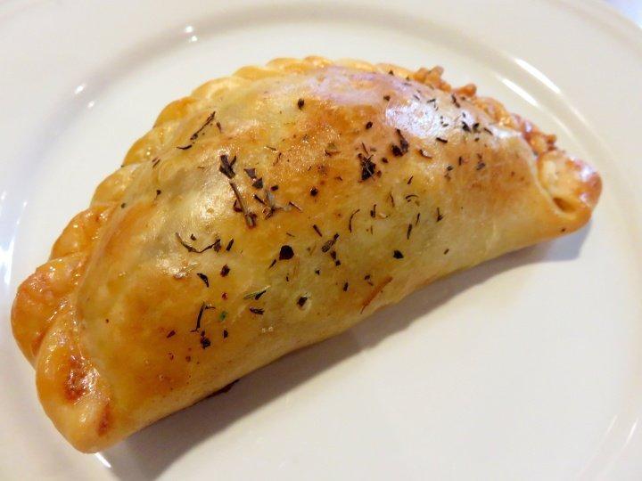 Empanada from Crocante on Carrer de Sant Pere Barcelona Spain Catalonia