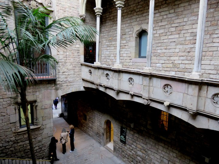 El Born district Barcelona - Picasso Museum is located on Carrer Montcada