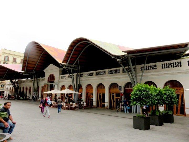 La Ribera District Barcelona - Santa Caterina Market - best food market