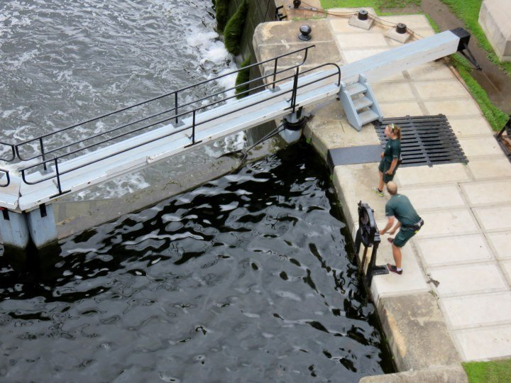 Ottawa Lock UNESCO World Heritage Site Rideau Canal - hand operated since 1832