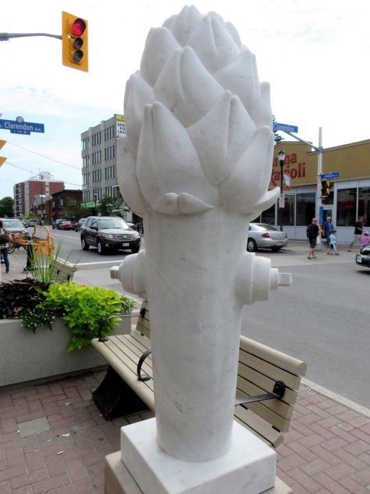 Public Art in Ottawa - asparagus fire hydrant on Wellington West