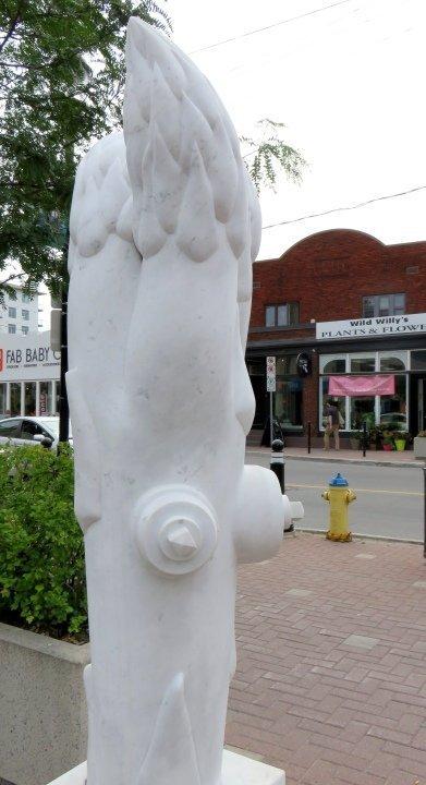Public Art in Ottawa - asparagus hydrant along Wellington West