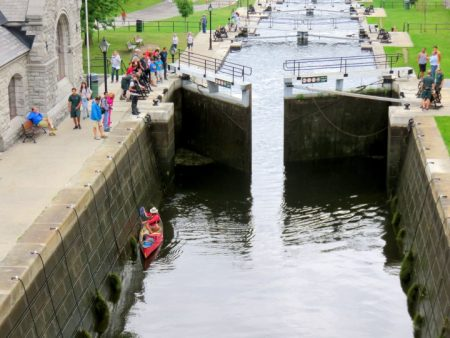 Ottawa Locks UNESCO World Heritage Site on the Rideau Canal