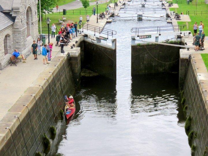 Ottawa Locks UNESCO World Heritage Site Rideau Canal - 202 km from Ottawa to Kingston
