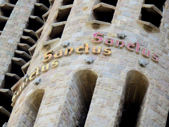 Barcelona Sagrada Familia Sanctus - Catalan architect Antoni Gaudi