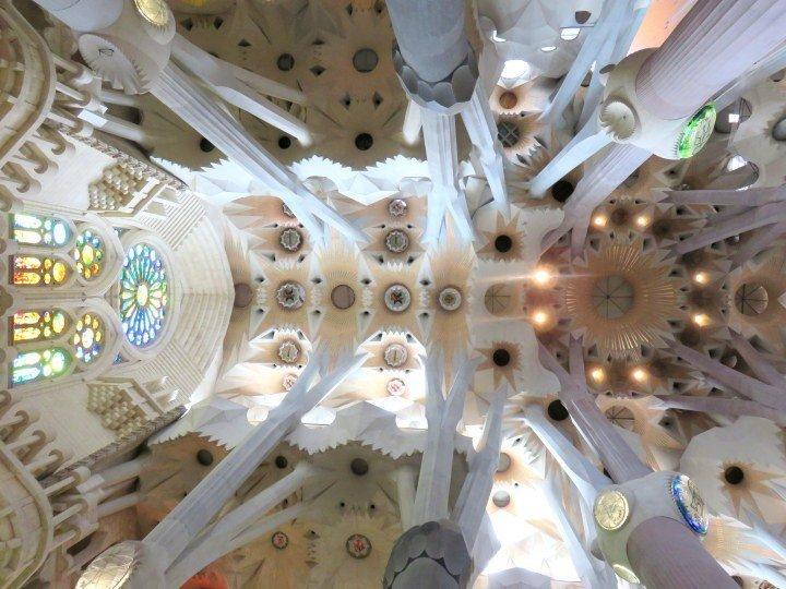 Catalan architect Antoni Gaudi's most famous work in Barcelona - Sagrada Familia